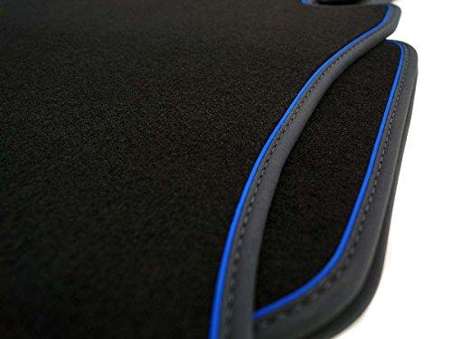 kh Teile Fußmatten (Blaues Band) Auris 2013 + Hybrid Original Qualität Velour Automatten 4-teilig