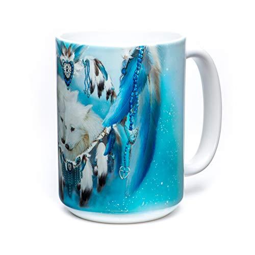 The Mountain Unisex-Adult's Wolf Heart Coffee Mug, White, 15 oz