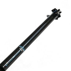 RXL SL tija sillin MTB Carbono tija Carretera Carbono Azul 3K Brillante tijas Bici 27.2 * 400mm