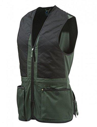 BERETTA Trap - Chaleco Unisex de algodón, Color Negro y Verde