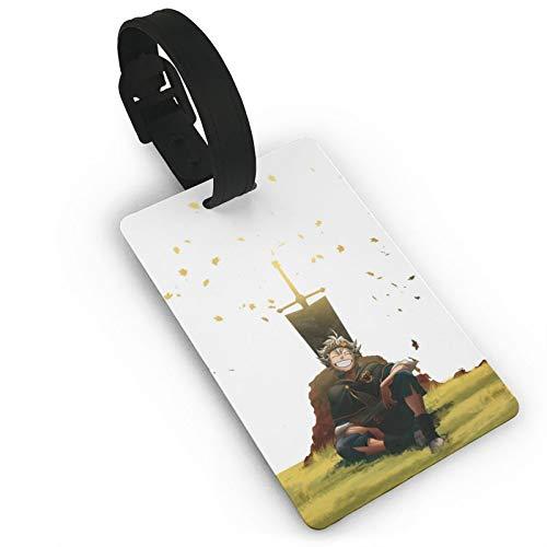 Etiqueta de equipaje de PVC impresa trébol negro, muy adecuada para descubrir rápidamente maletas de equipaje