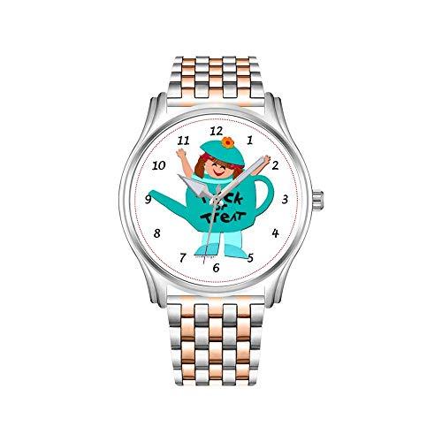 Reloj de hombre de acero inoxidable oro rosado deportivo Business Watch Male Watch Tribal, gris, rojo, naranja, reloj de impresión Navajo.