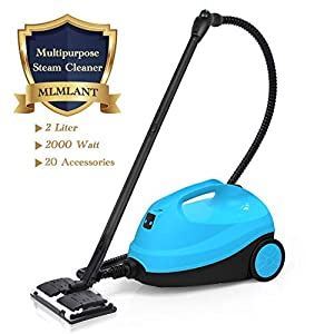 MLMLANT Steam Cleaner, Multipurpose Steamer,Steam Mop Cleaner with 20 Accessories 2000ML Water Tank Capacity for Floors Windows and Carpet, 2000W