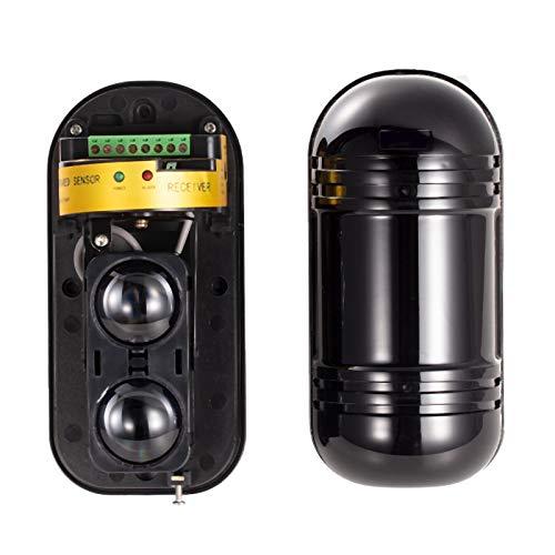 Cobeky Dos vigas 2 haces Detector infrarrojo alarma ABT-100 perímetro alarma antideslumbrante hasta 50000LUX