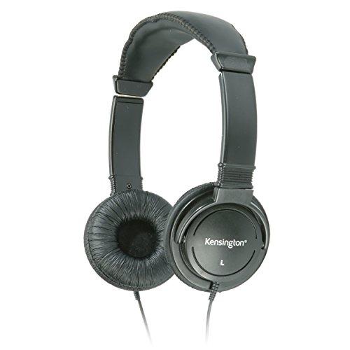 Kensington Hi-Fi On-Ear Headphones with 9-Foot Cord (K33137),Black