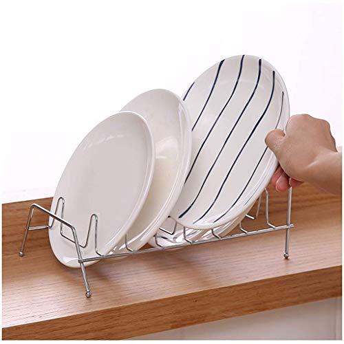 Portautensilios/Bastidores del plato 2pack moderna Mueble de cocina del fregadero del plato estante de secado, la bandeja de cubiertos extraíble Estante de drenaje y cuencos y platos marco del basti