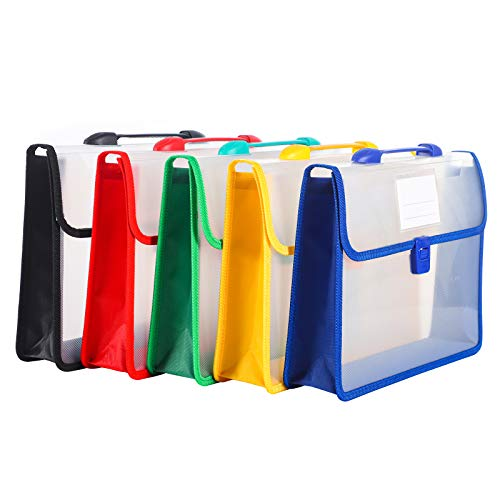 5 Packs Expanding File Folders,Document Organizer Letter Size,Expanding File Organizer for Office and School Supplies