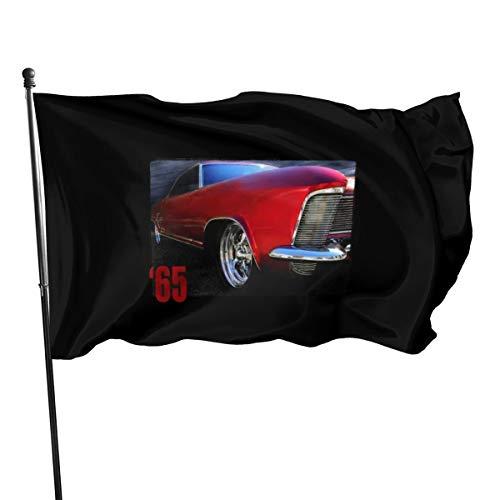 Generic Brands Lot de 65 grands drapeaux de la Riviera Rouge 0,9 x 1,5 m