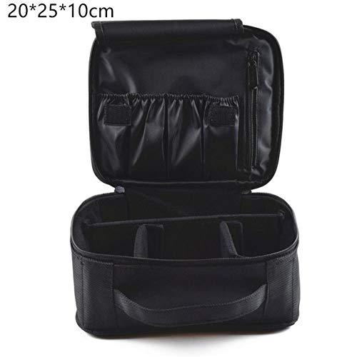 GOUYUAN Kosmetiktasche Make Up Bag Organizer Professional Make Up Artist Box Größere Taschen Netter Koffer Make Up Koffer Mode Kosmetiktasche Fall,Schwarz Mini