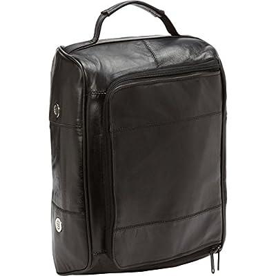 Bellino Leather Golf Shoe Bag, Black