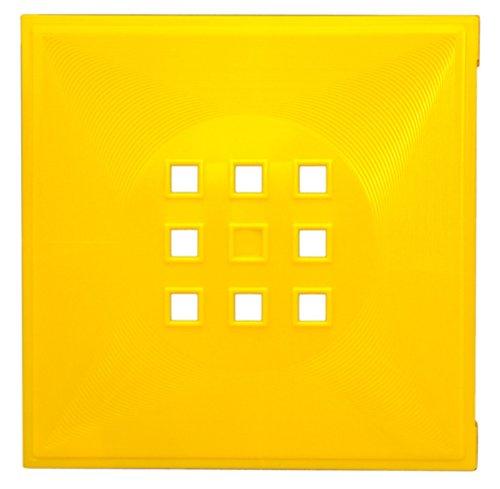 Designer Regaltür als Fach-Einsatz, Regalsysteme mit Mass ca. 33,6cm x 33,6cm, Tür für Ikea Regal Expedit Kallax Nornäs - Würfel Flexi - XXXL Lutz - Quelle Raumteiler -Variation in (Gelb)