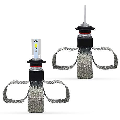 DIRIGIÓ Bombillas de faros 9600LM 80W LED Kit de faros delanteros Conversión de bombillas 3000K / 4300K / 6000K 3 Temperatura de color T9-CSP H7 LED Kit de faros delanteros de automóviles Para faros