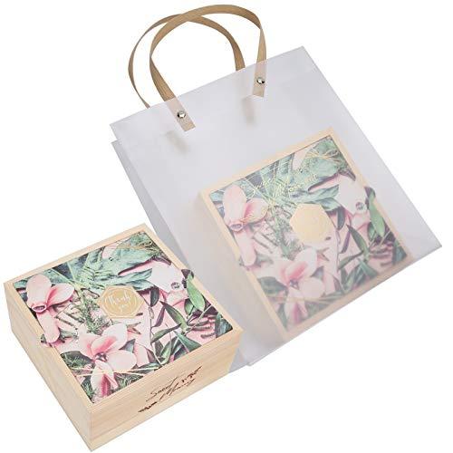 Caja de Regalo, Bolsa de Regalo de Regalo, PVC Que empaqueta Madera Exquisito para la Boda del día de San Valentín(Huayu)