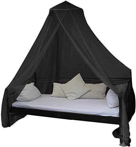 normani Mobiles Moskitonetz - Insektenschutz für In- und Outdoor - für Einzel- und Doppelbetten Farbe Schwarz