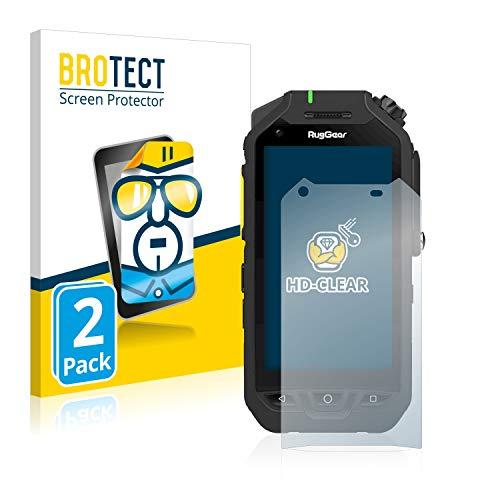 BROTECT Schutzfolie kompatibel mit RugGear RG725 (2 Stück) klare Bildschirmschutz-Folie