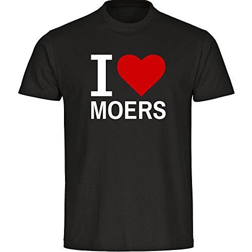 Herren T-Shirt Classic I Love Moers - schwarz - Größe S bis 5XL, Größe:XXXL
