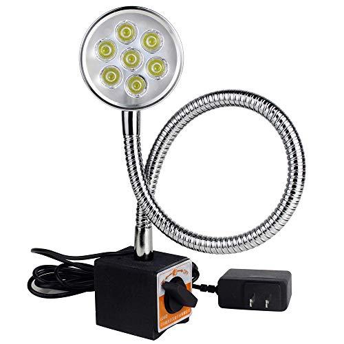 Luce da lavoro magnetica da 700 lumen, lampada con angolo flessibile da 20 pollici, base regolabile per tornio CNC, trapano per la lavorazione del legno, illuminazione industriale