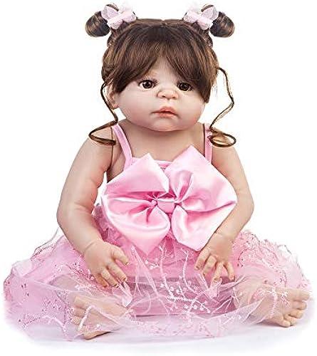 BM0059 Lustige Weiße   Silikon Lebensechte Kleid Reborn Baby Puppe Spielzeug Kleidung Set Für mädchen Früherziehung Spielzeug