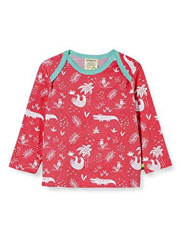 loud + proud Mädchen Longsleeve Shirt Allover Print Organic Cotton Langarmshirt, Rosa (Azalea Aza), (Herstellergröße: 98/104)
