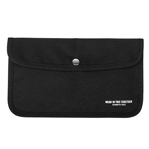 Kenneth Cole Portable Mask Case - Face Covers Storage Pouch - Stay Protected and Organized, Charcoal Black