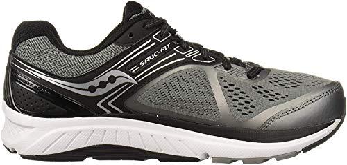 Saucony Men's Echelon 7 Running Shoe, Grey | Black, 11 M US