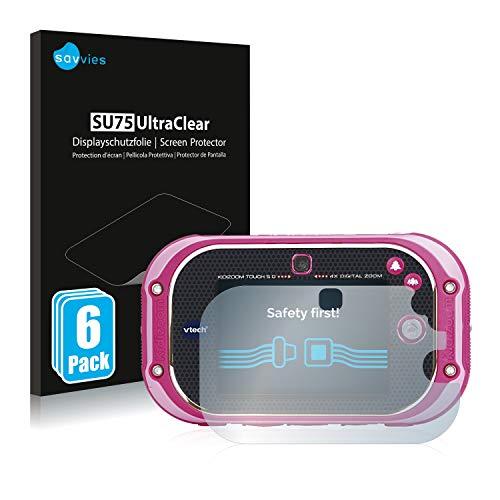Savvies 6X Schutzfolie kompatibel mit Vtech Kidizoom Touch 5.0 2018 Displayschutz-Folie Ultra-transparent