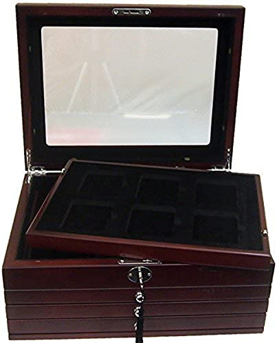 comprar mejor Deluxe Glass-Top Glass-Top Glass-Top Display Box for 24 Slabs with Latch and Key by Guardhouse  tienda en linea