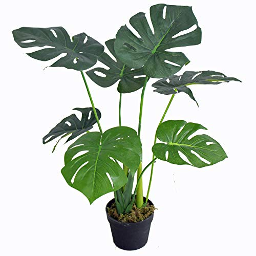 Yanka-style JWS2817 - Monstera artificiale con vaso, altezza circa 70 cm, pianta artificiale, albero di Natale, decorazione regalo