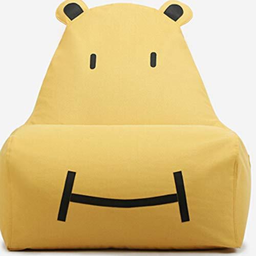 Bank GJDBBLY Enkele schattige baby kinder cartoon kunst luie bank. Tatami stoel. Zitzak klein Zoals afgebeeld-1 Geel