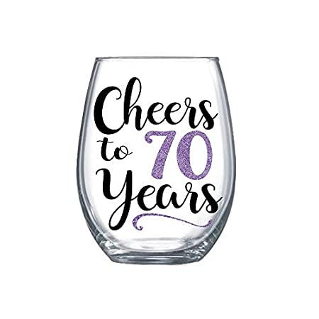 Cheers to 70 Years - 70th Birthday Gift Ideas for Her #70thbirthday #birthdaygift