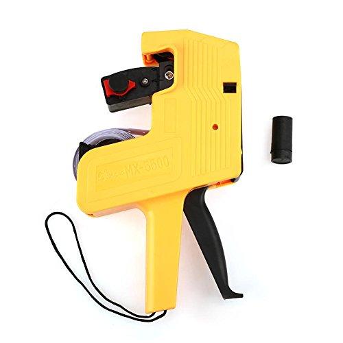 Precio G-un - Etiquetadora MX-5500 Etiqueta de precio de 8 dígitos G-un Herramienta para minoristas Fácil uso Incluye etiquetas y recarga de tinta Conformidad con la moneda(Amarillo)
