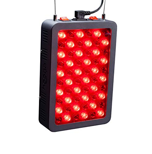Red Light Therapy Device by Hooga, 660nm 850nm, Near Infrared LED Light Therapy Lamp Panel, 60 LEDs, Clinical Grade, High Power for Energy, Pain, Skin, Beauty, Anti-Aging, Performance. HG300.