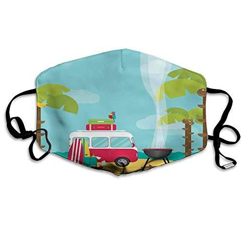 FULIYA Wiederverwendbare, waschbare Gesichtsabdeckung, Unisex, für Motorrad, Fahrrad, Laufen, Radfahren und Outdoor, mit Filter, Wohnwagen, Camping mit Grill und