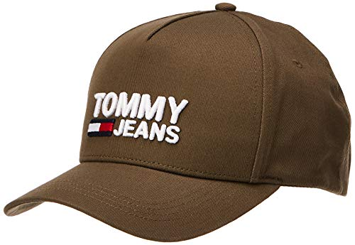 Tommy Jeans Herren TJM Logo Baseball Cap, Grün (Olive Green 084), One Size (Herstellergröße:OS)