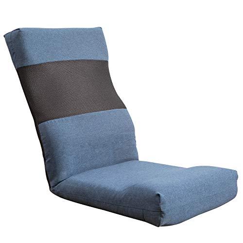 KYODA 座椅子 S型折り畳み リクライニング 6段階調節 ハイバック ふあふあ コンパクト 低反発ウレタン おしゃれ こたつ フロアチェア 幅45×奥行46×厚さ11cm ブラウン 09A