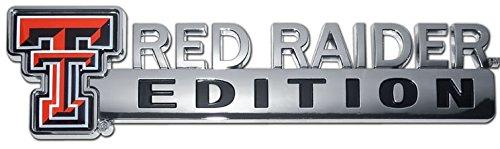 NCAA Collegiate Edition ABS Molded Chrome Auto Emblem (Texas Tech Red Raiders)