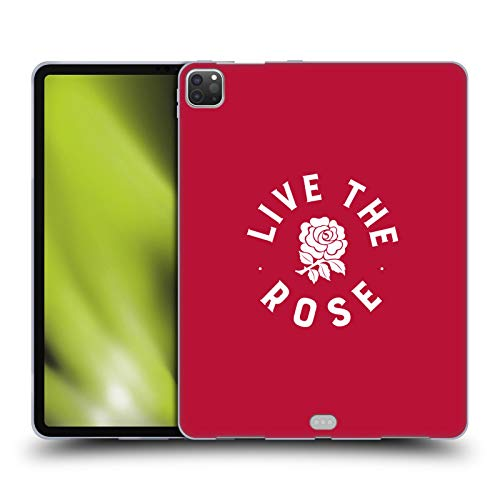 Head Case Designs Officially Licensed England Rugby Union Live The Rose 2016/17 The Rose Soft Gel Case Compatible with Apple iPad Pro 12.9 (2020)