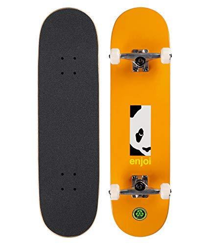 Enjoi Box Panda - Skateboard completo, 20,6 cm, colore: Arancione