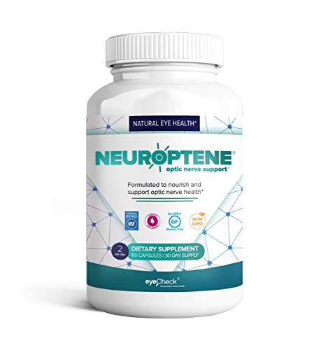 Eye Pressure Supplement with Bilberry Saffron Niacinamide CoQ10 for Optic Nerve Relief - Helps Support Healthy Retinal Blood Flow - Neuroptene® (60 Capsules)