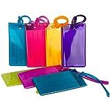 7 Etichette TravelMore per bagaglio, etichette flessibili in silicone da viaggio per Identificazione, set per borse e bagagli – Confezione multicolore