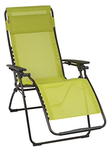Lafuma Relax-Liegestuhl, Klappbar und verstellbar, Futura Batyline, Papageno (Gelb)