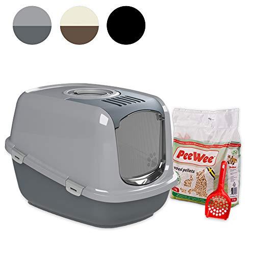 PeeWee EcoDome - Katzentoilette - Starter-Paket Grau