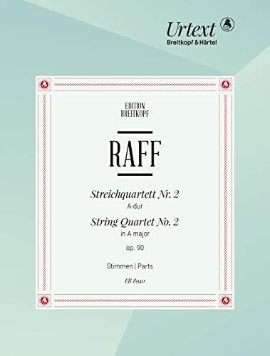 Streichquartett Nr. 2 A-dur - Breitkopf Urtext - Stimmensatz (EB 8940)