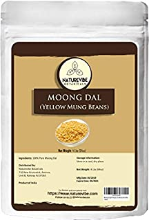 Naturevibe Botanicals Moong Dal ( Split Mung Beans without skin), 4lbs | Non-GMO and Gluten Free | Indian Lentils