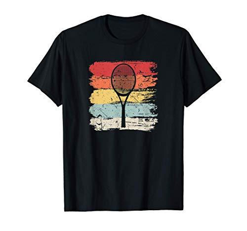 Regalo Vintage per Tennisti con Racchetta da Tennis Maglietta
