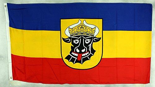 Fahne Flaggen MECKLENBURG OCHSENKOPF 150x90cm