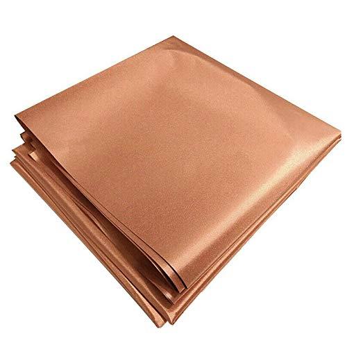 """Tela de cobre que bloquea RFID/RF-Reduce la protección EMF/EMI Bloques de material certificado señales RF (WiFi, celda, Bluetooth, blindaje de radiación) Color dorado 39 """"x43"""" pulgadas (oro)"""