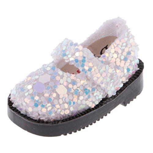 MagiDeal 1 Par 1/6 Zapatos de Muñeca para 12 Pulgadas Blythe Dolls Accesorios de Ropa ACCS - Blanco