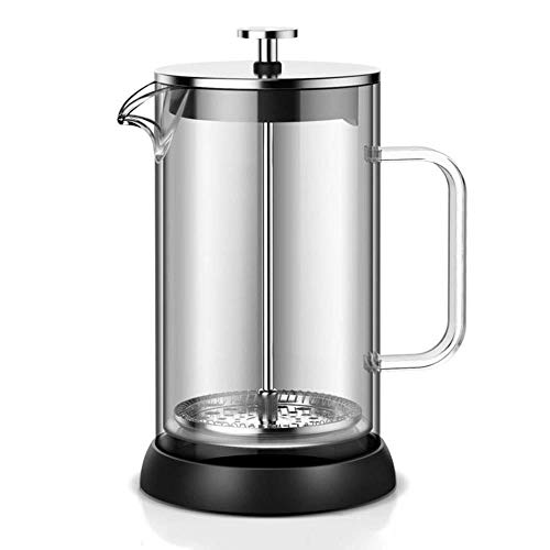 Affordable XXDMZ French Coffee Press, Glass French Press Coffee Tea Maker, 304 Stainless Steel Coffe...