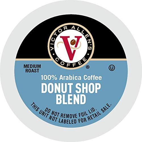 Victor Allen's Coffee Donut Shop, Medium Roast, 80 Count Single Serve Coffee Pods for Keurig K-Cup Brewers